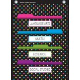 Chalkboard Brights 10 Pocket File Storage Chart