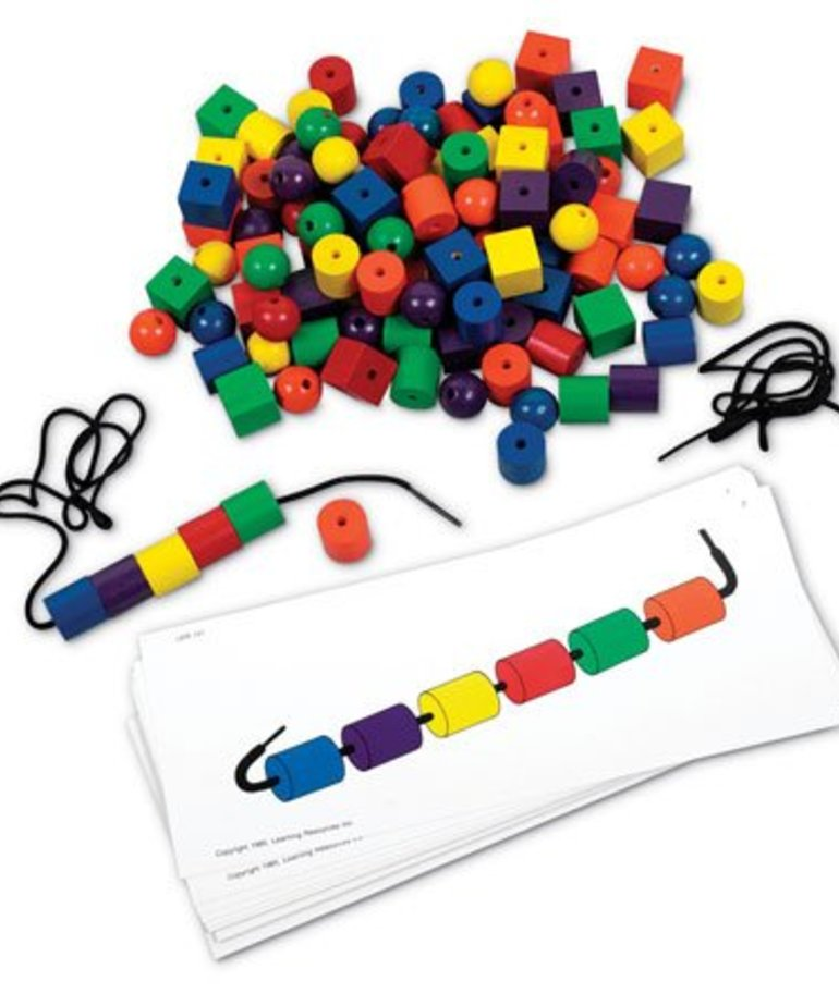 Learning Resources Beads and Pattern Card Set