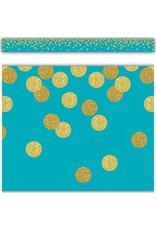 Confetti Teal Confetti Straight Border Trim