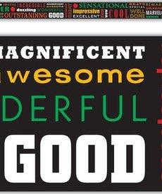 Positive Words Subway Art Border Trim