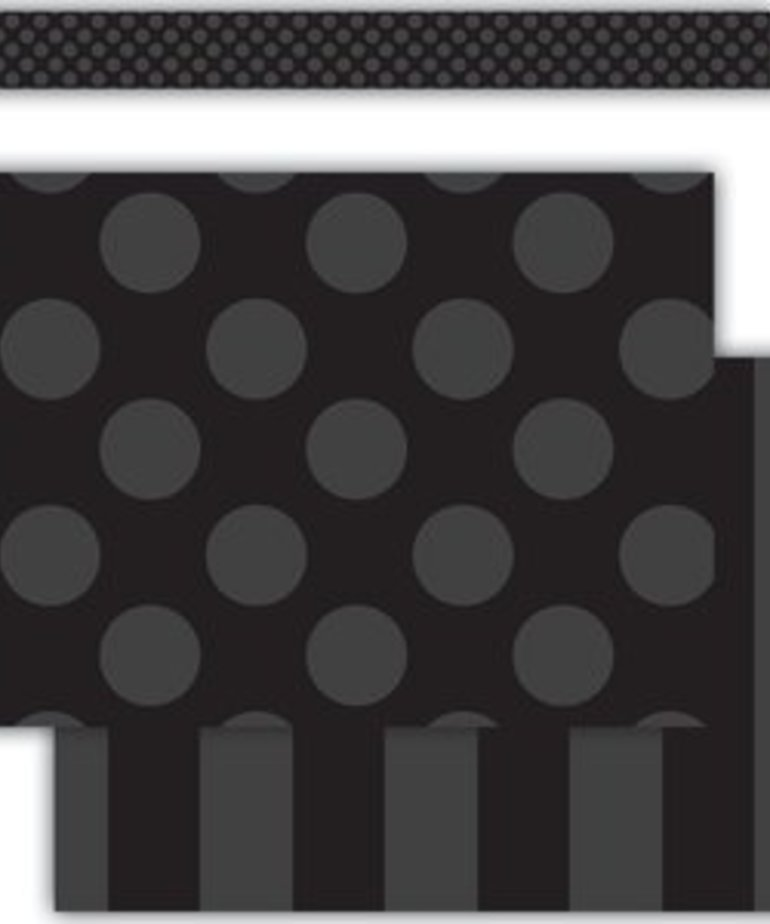 Black Sassy Solids Double-Sided Border