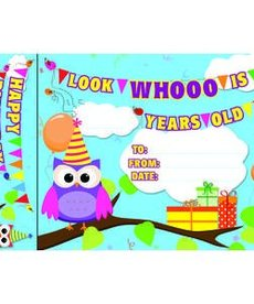 Happy Birthday Owls Bookmark Awards