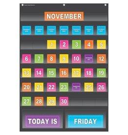 Black Calendar Chart