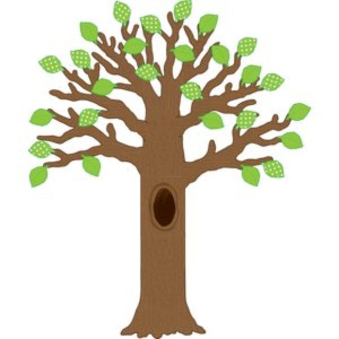 Big Tree With Polka Dot Leaves Bulletin Board Display