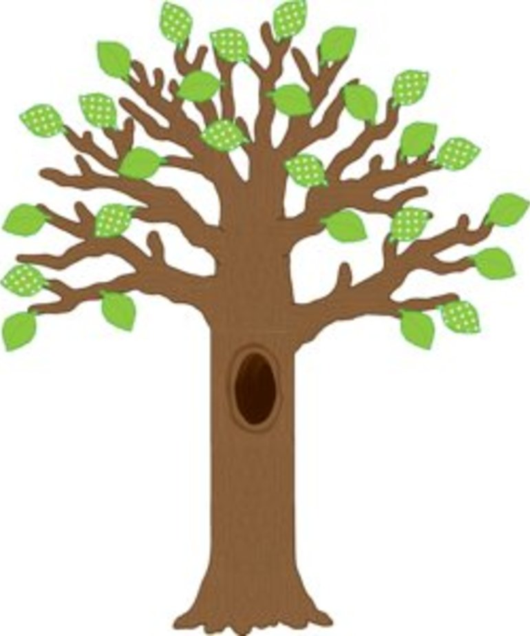 Big Tree With Polka Dot Leaves Bulletin Board Display