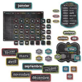 French Calendar Set (Chalk)-Bulletin
