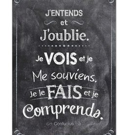 French Poster - J'entends