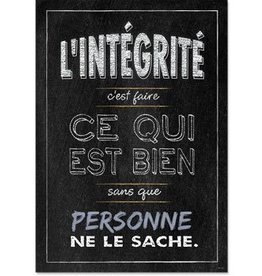 French Poster - L'Integrite
