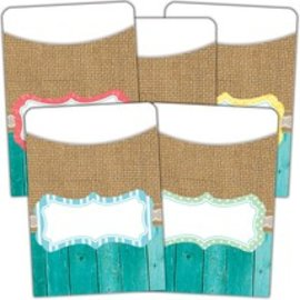 Shabby Chic Library Pockets- Multi Pack