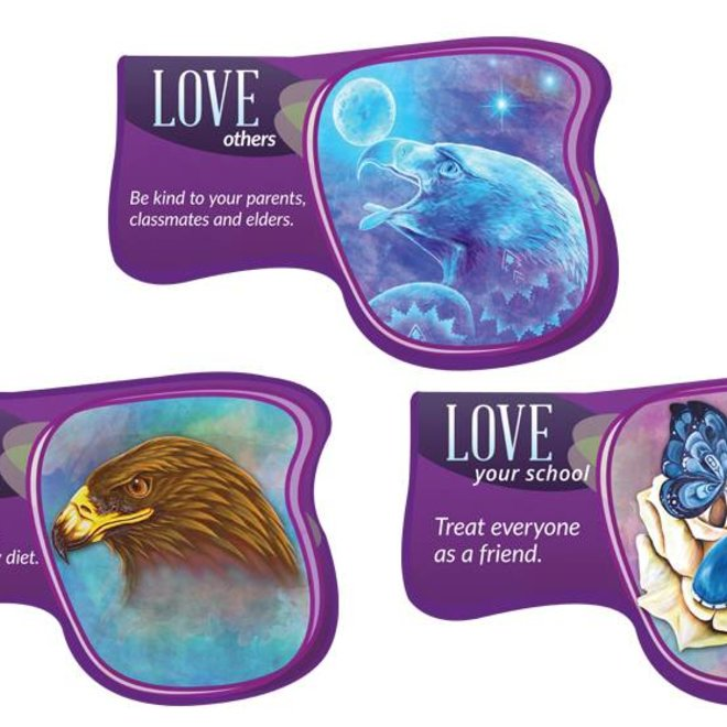 Seven Teachings Love poster (3PK)