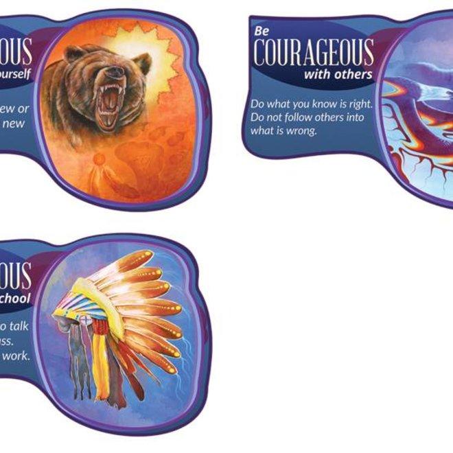 Seven Teachings Courageous poster (3pk)