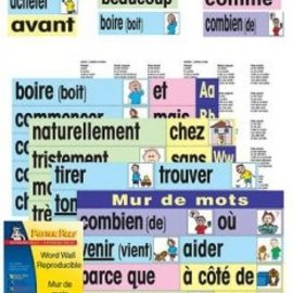 French Word Wall Card Set