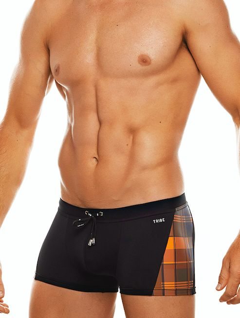 Highland Fling Trunk - Black/Orange