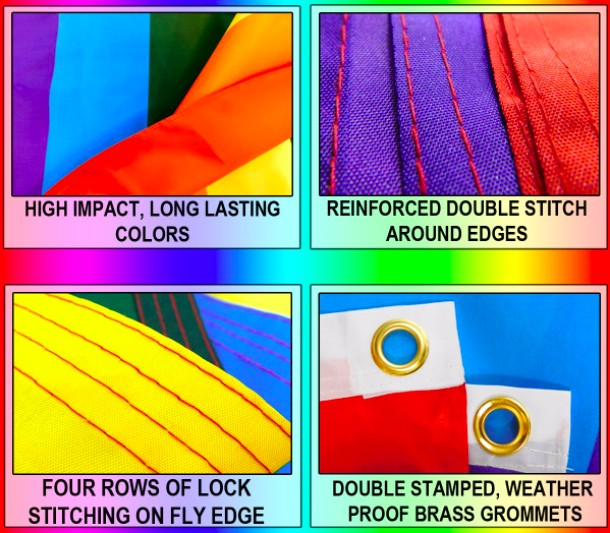 Pride Flags 3 x 5 Feet Rainbow