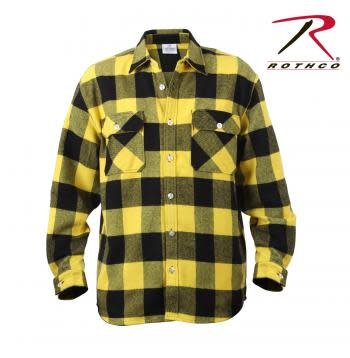 Extra Heavyweight Buffalo Plaid Flannel Shirt - Yellow