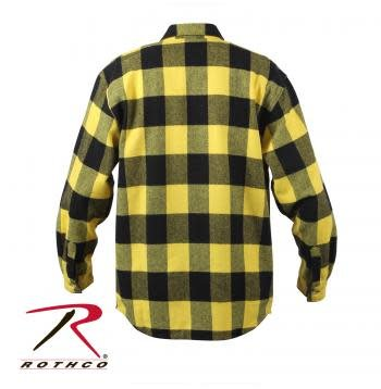 Extra Heavyweight Buffalo Plaid Flannel Shirt - Yellow