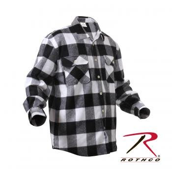 Extra Heavyweight Buffalo Plaid Flannel Shirt - White