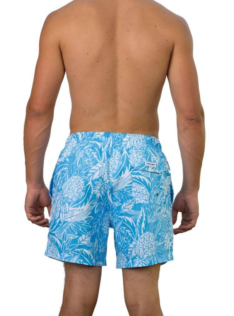 Light Blue Pineapple swim Short