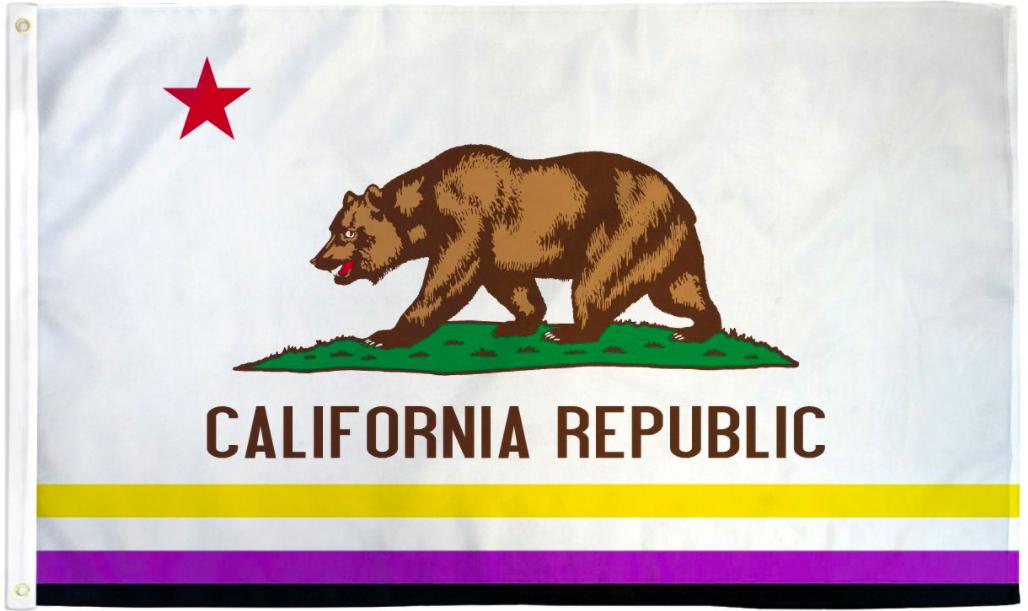 Pride Flags 3 x 5 Feet California - Non Binary