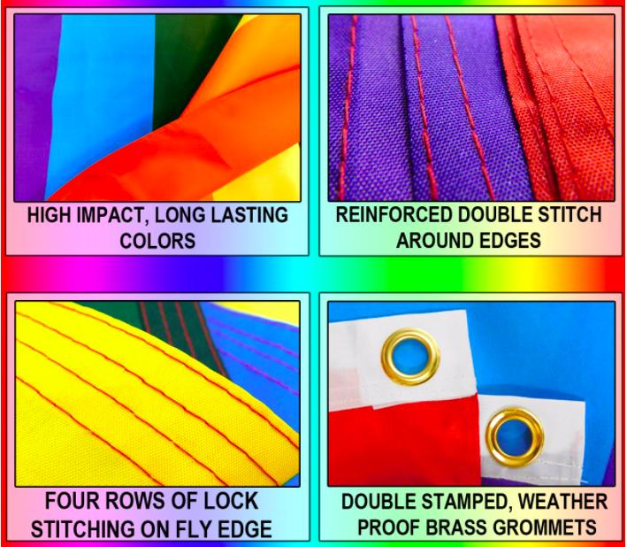 Pride Flags 3 x 5 Feet USA - Rainbow