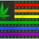 Pride Flags 3 x 5 Marijuana USA