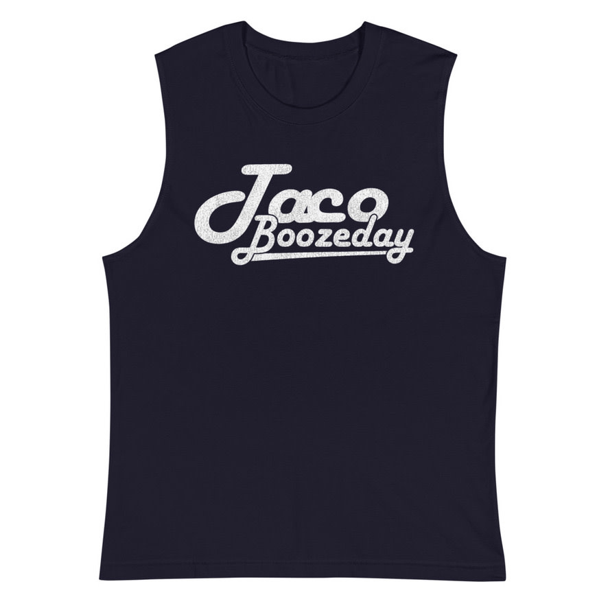 Taco Boozeday, Muscle Tank, Midnight Navy