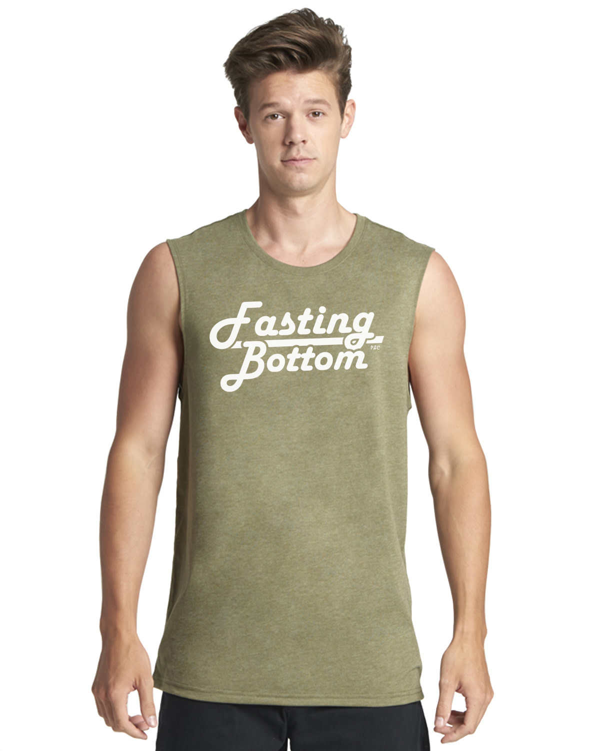 Fasting Bottom, Muscle Tank, Military Green