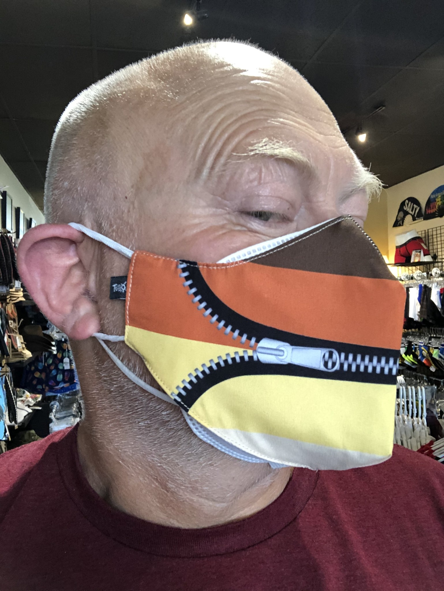 Face Mask, Which one is you? Bear Wear Pride Zip It