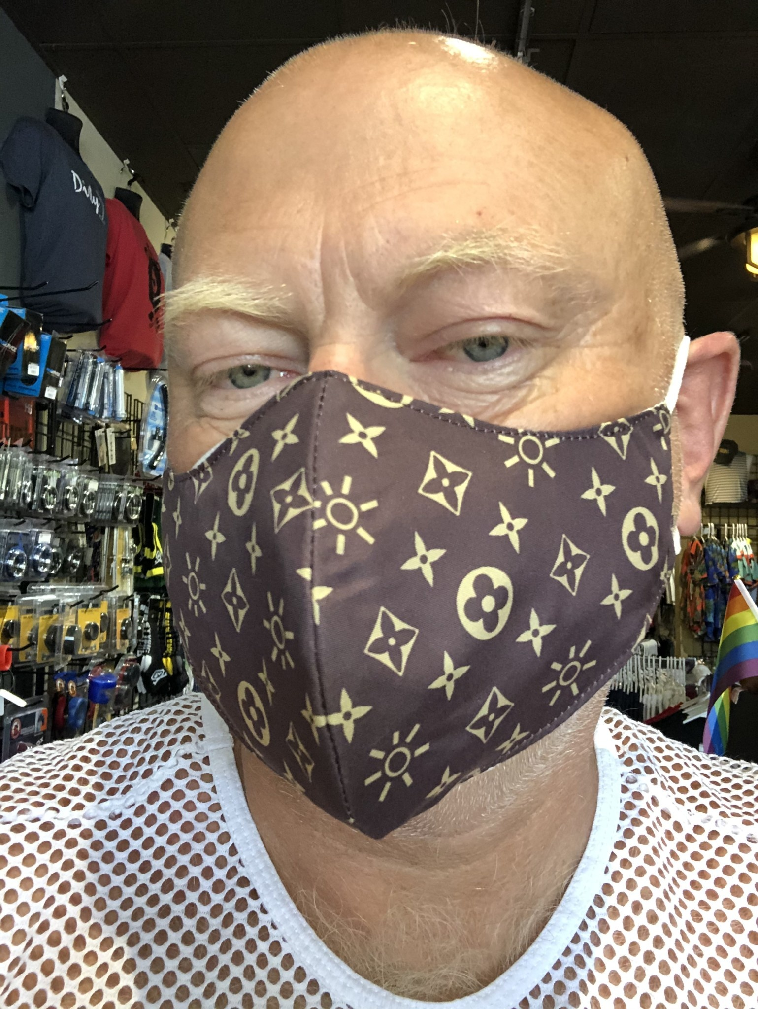 Face Mask, Which one is you? Lou Bearton Brown