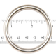 Jim Diamond Seamless Metal Ring - 1 7/8""