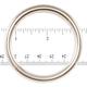 """Jim Diamond Seamless Metal Ring - 2"""""""