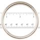 """Jim Diamond Seamless Metal Ring - 2 1/4"""""""