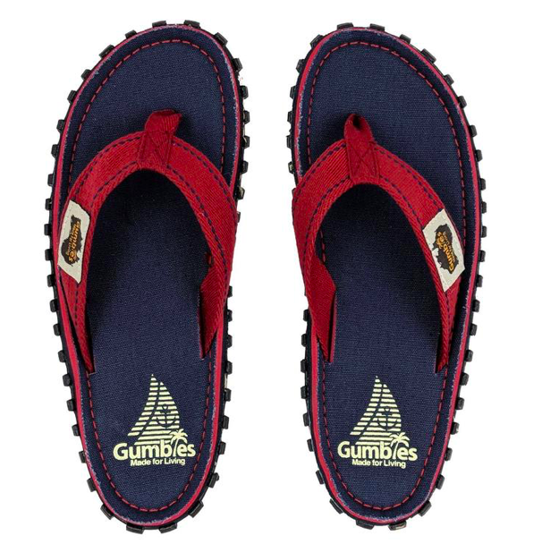 Gumbies Islander Canvas Flip-Flops, Navy/Coast