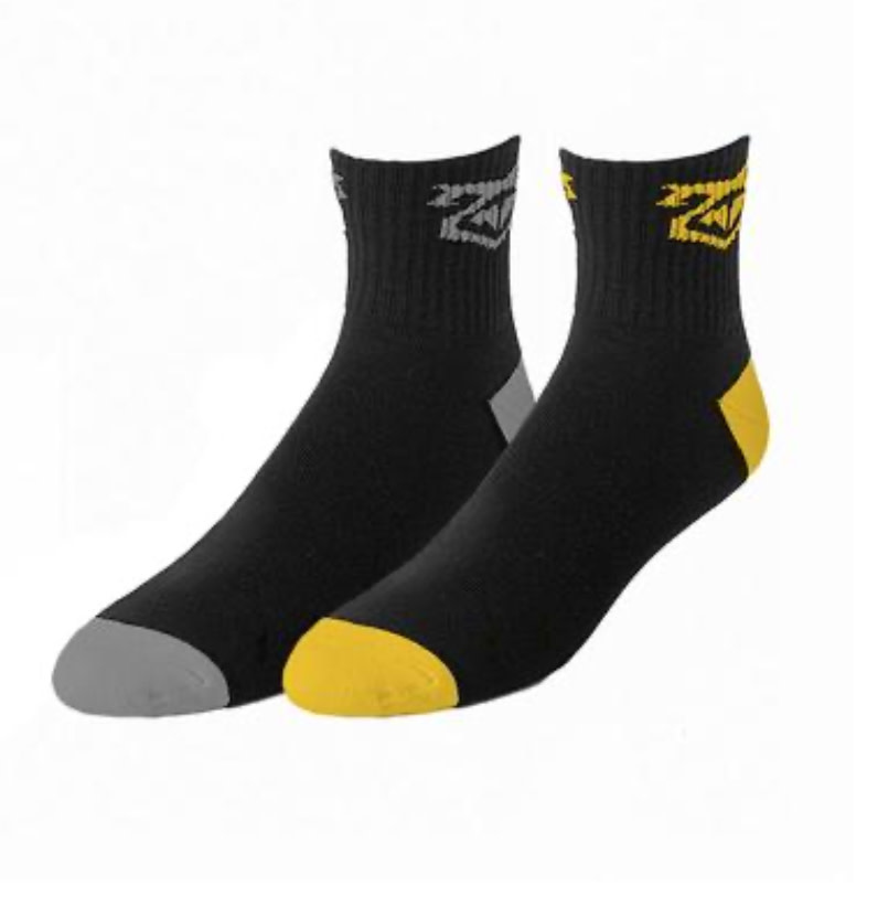 Nasty Pig Flasher Sock 2 Pack, B/W or Grey/Yellow