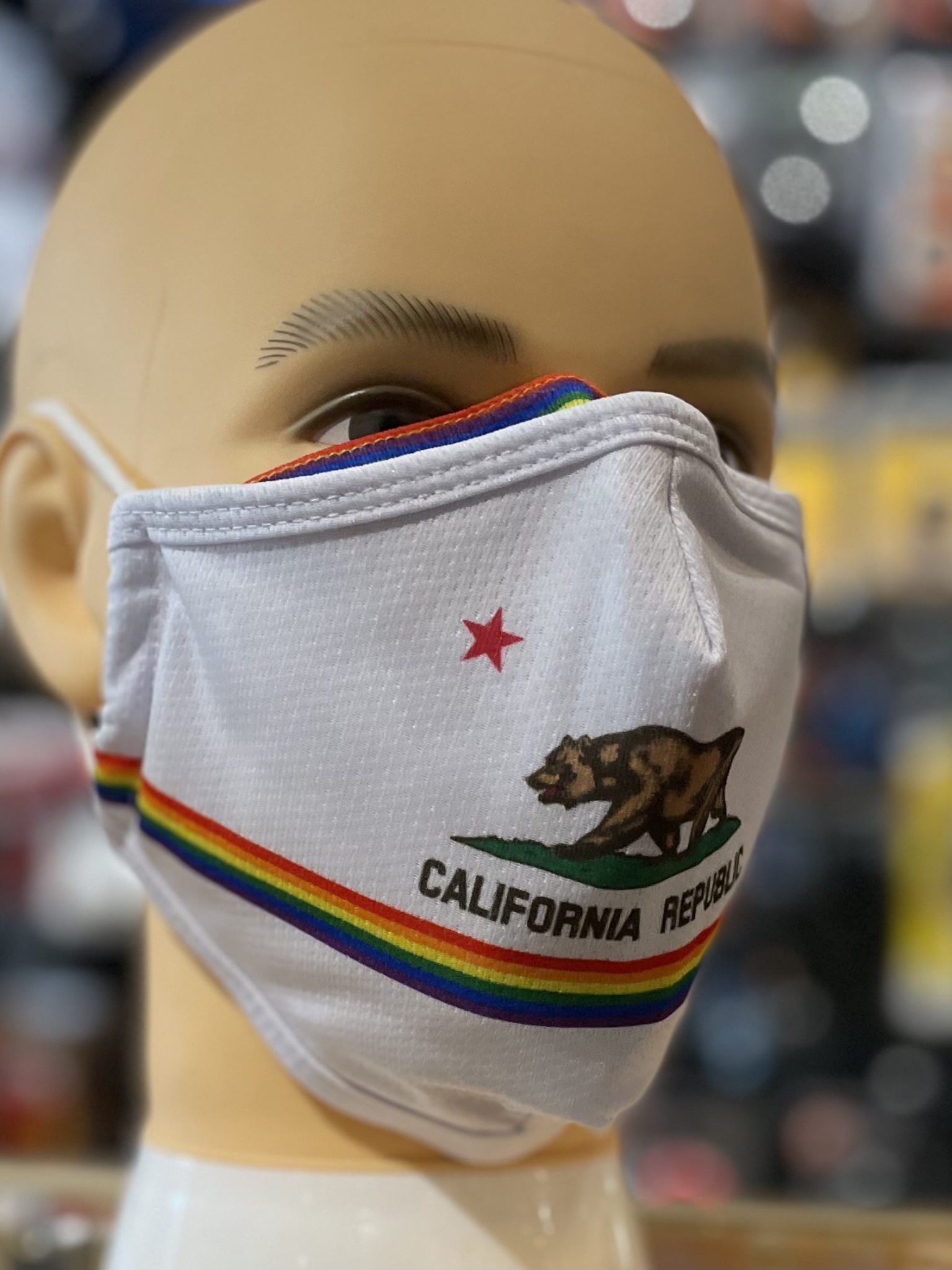 XL Face Mask, Bigger bear sized. CA Flag 'Pride'
