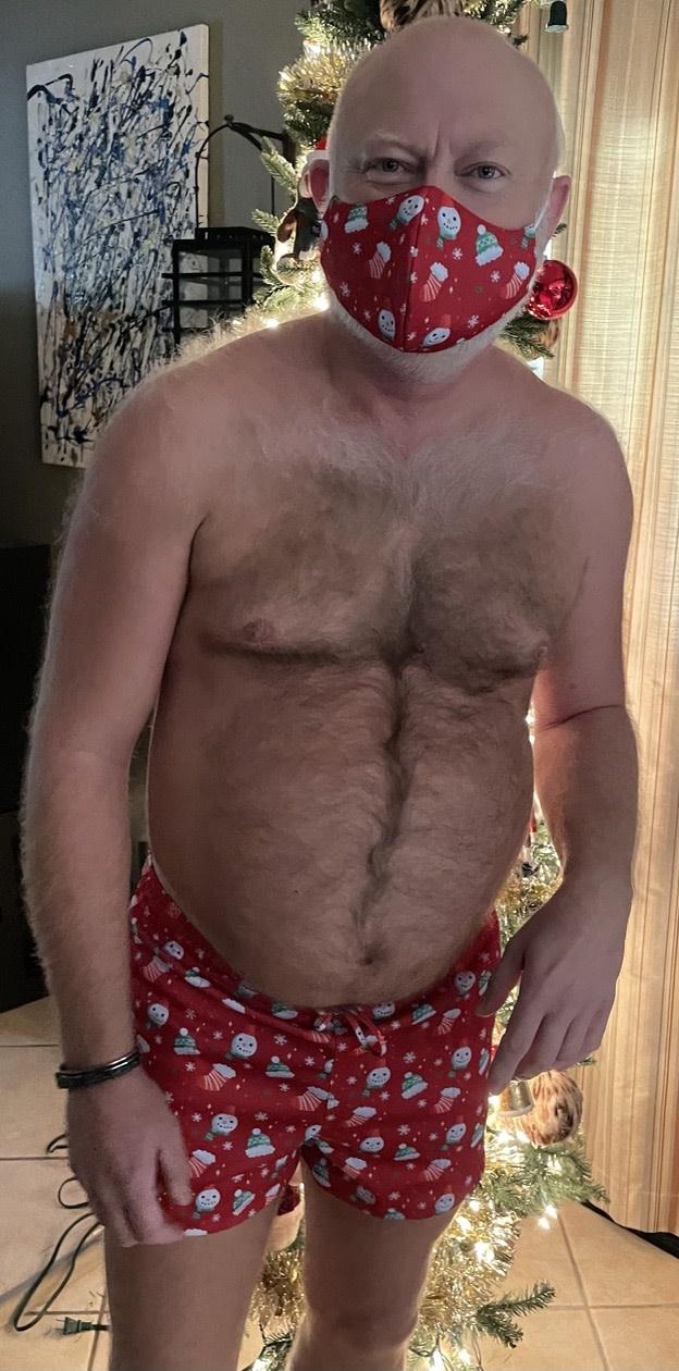 Christmas Shorts - Red Snowman Head