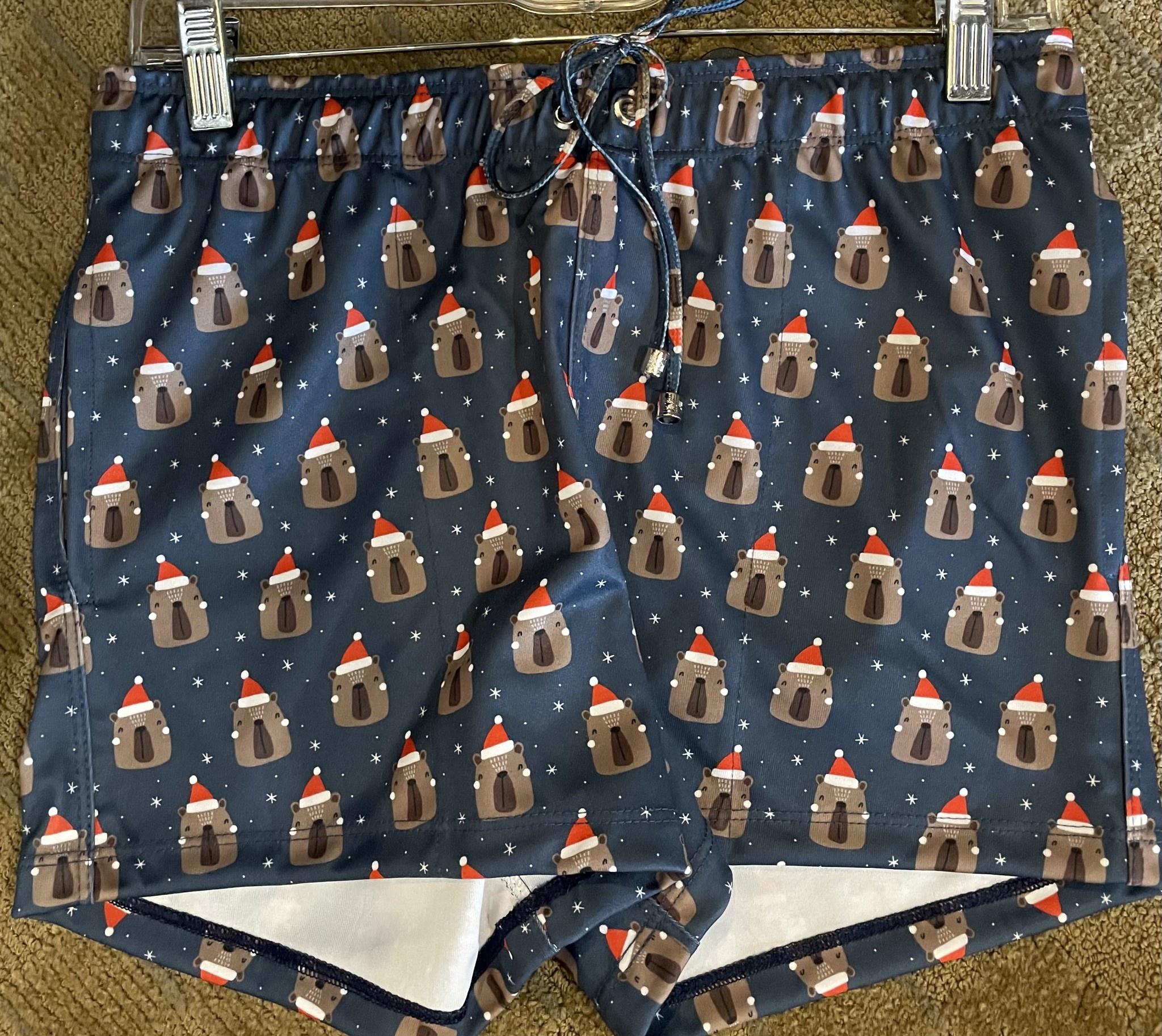 Christmas Shorts - Blue Bear Santa