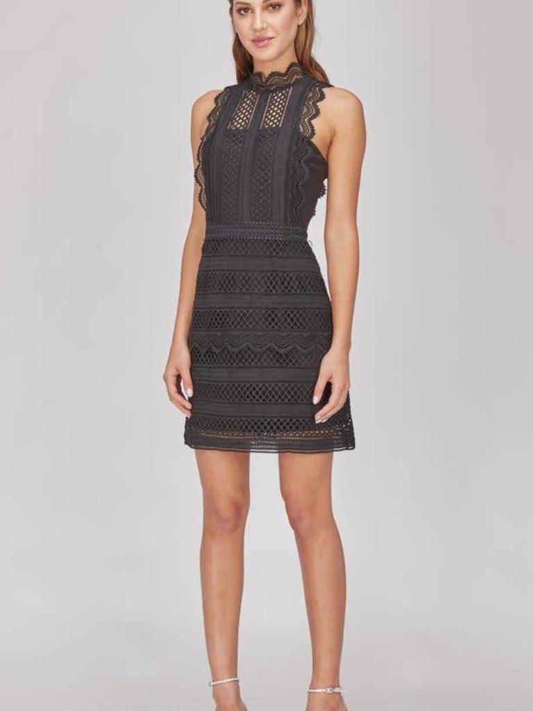 b13017afca Noelle Lace Mock Neck Dress - Rowe Boutique