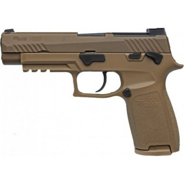SIG 320 M17 SEMI AUTO 9MM WITH MANUAL SAFETY FDE