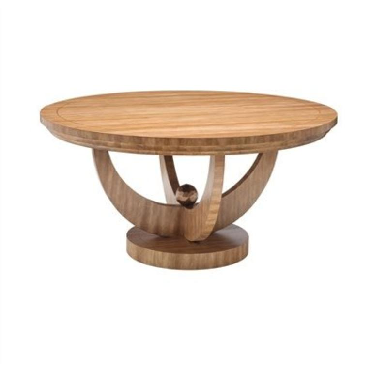 Maitland Smith Blonde Finished Round Dining Table