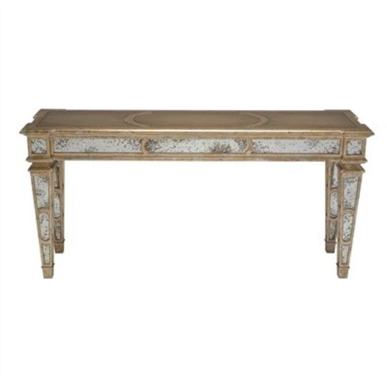 Venetian Silver Leaf Finished Console