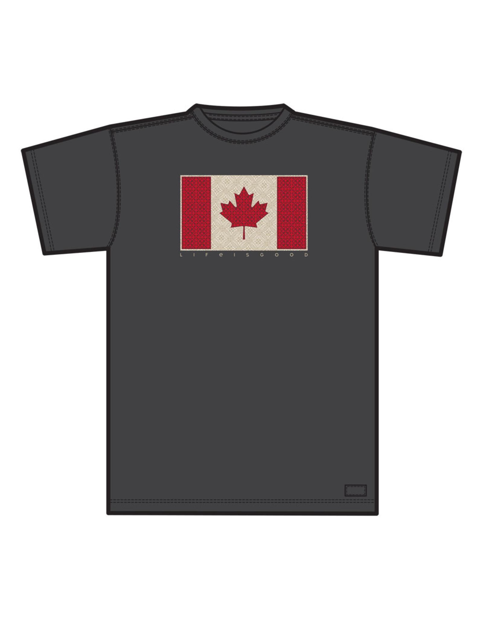 Life is Good LIG M Crusher tee Canada flag S19