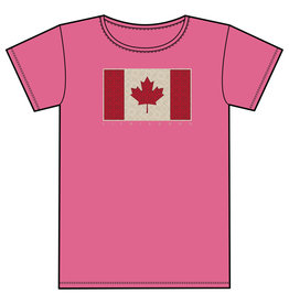 Life is Good LIG JR Girls crusher Canada flag