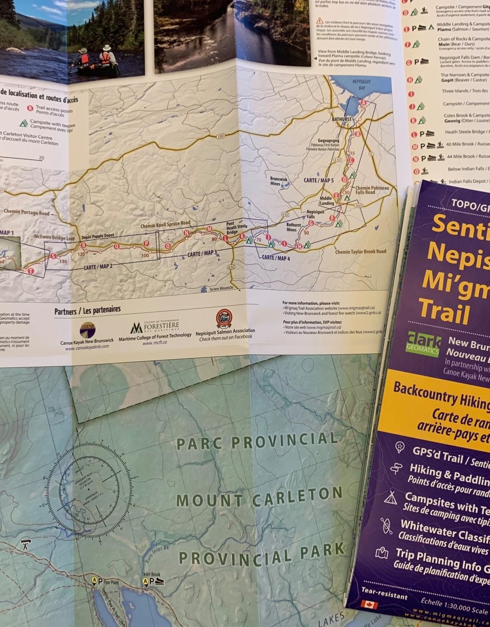 Sentier Nepisiguit Mi'gmag Trail Map