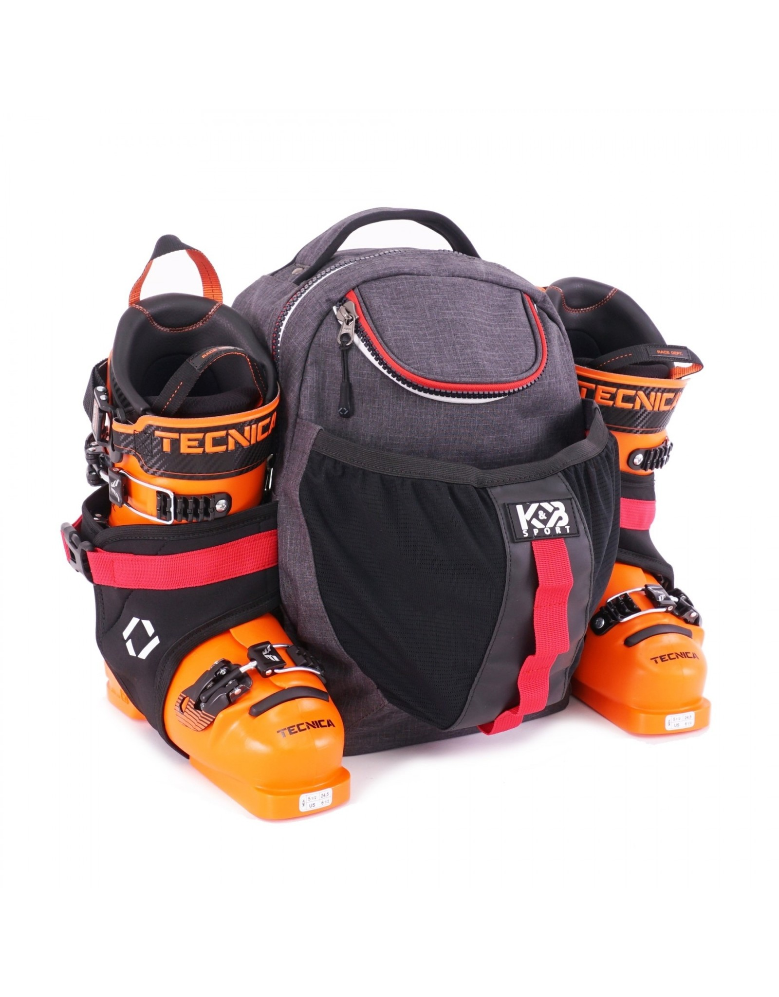 K&B Sport K&B Junior Expert Boot Pack Charcoal/Red