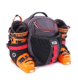 K&B Sport K&B Junior Expert Boot Pack Charcoal/Red
