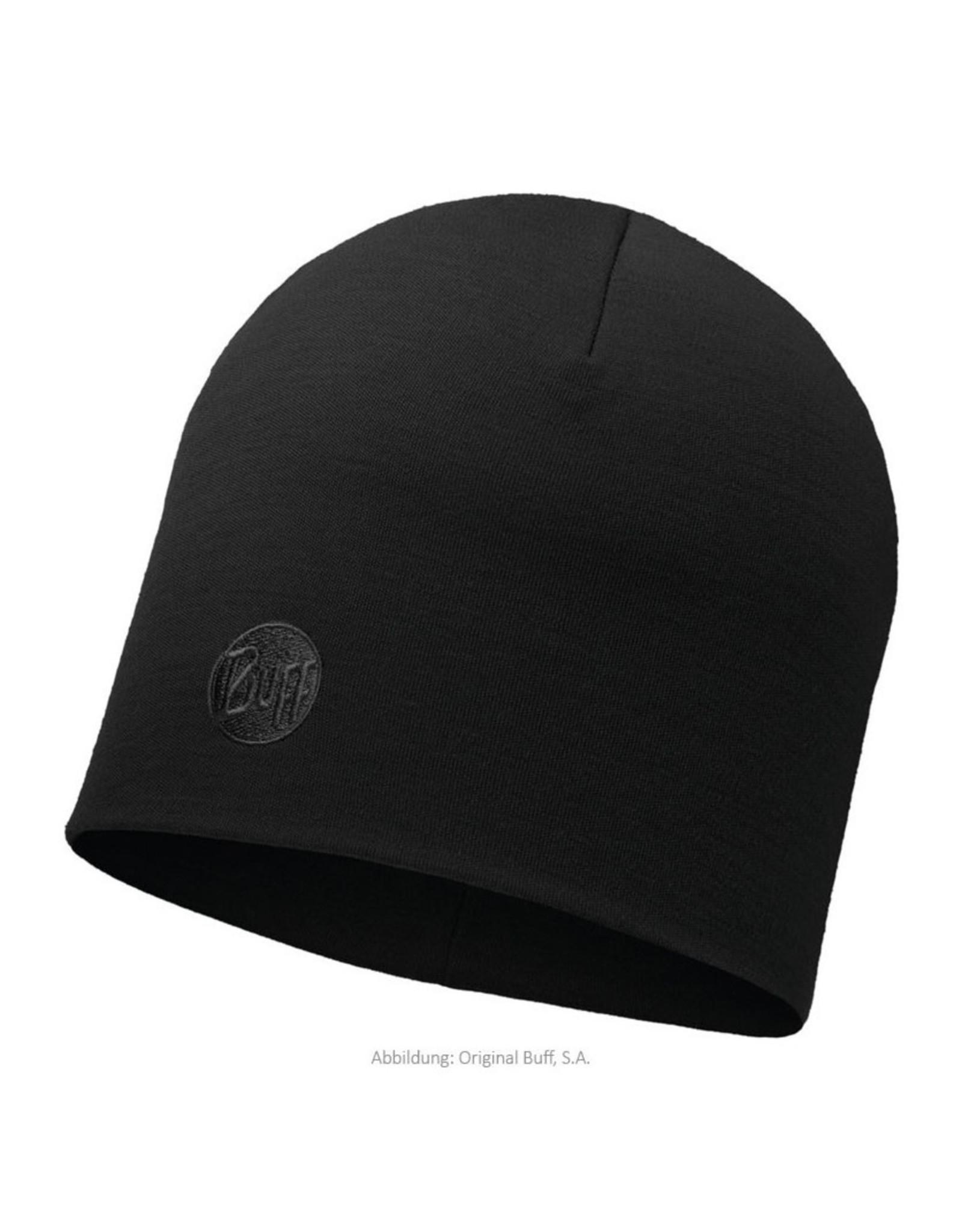 Buff Buff Heavyweight Merino Hat Solid Black