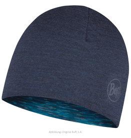 Buff Buff Lightweight Merino Reversible Hat Denim Ice Multi