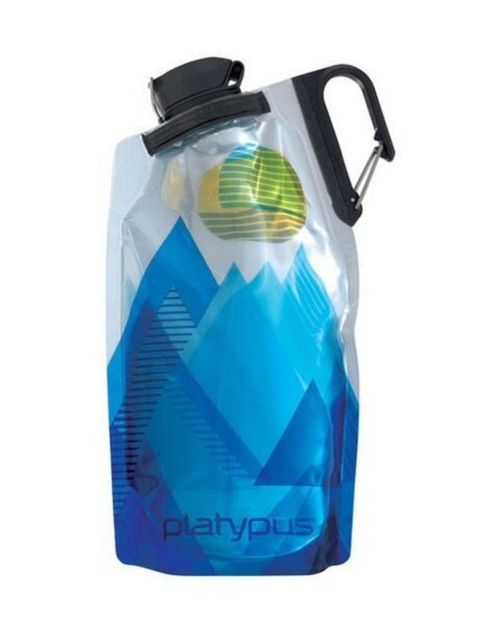 Platypus Platypus DuoLock 0.75L Bottle Blue Peaks