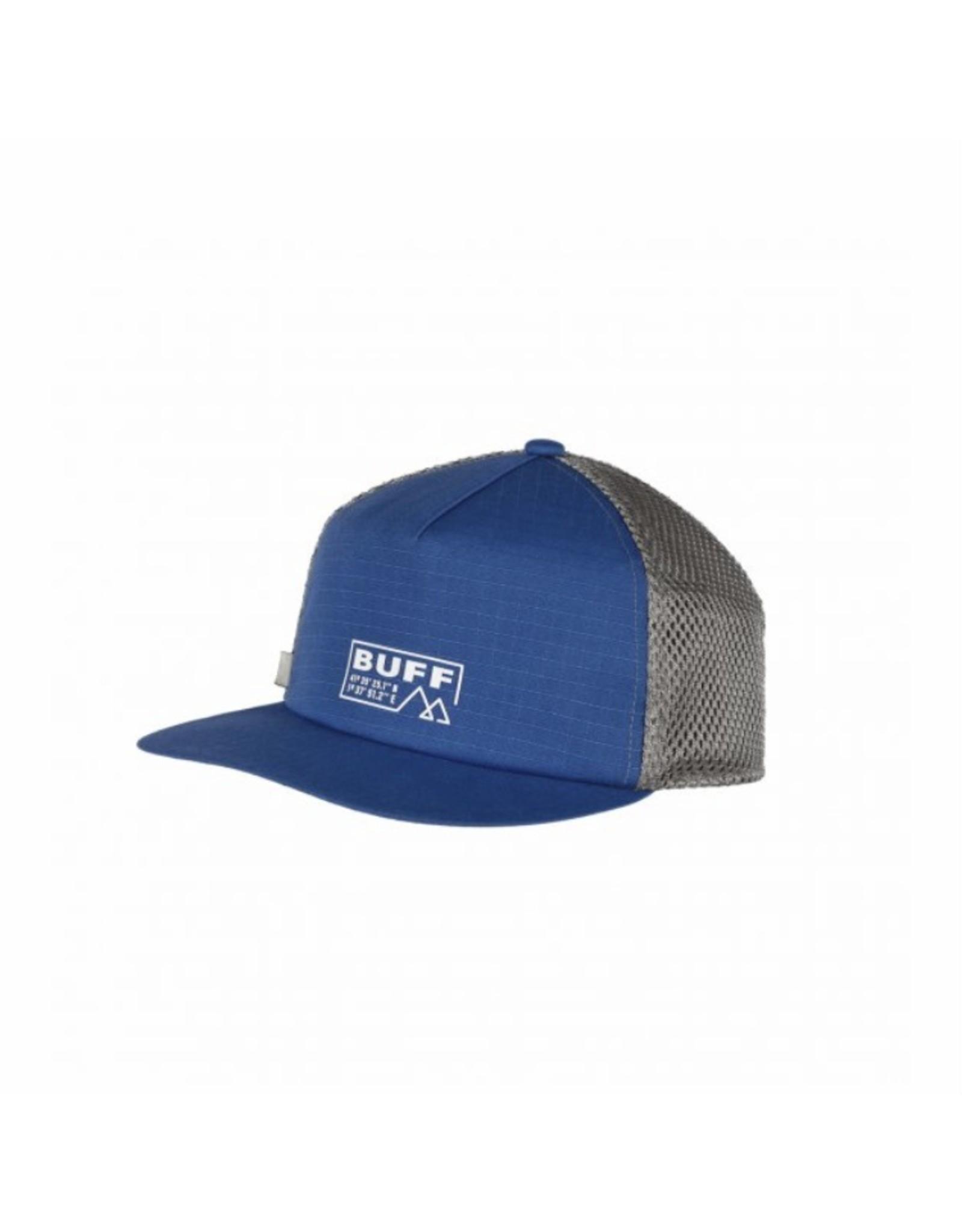 Buff Buff Pack Trucker Cap Solid Azure